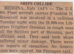FDR Collision story